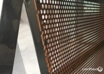 Mesa personalizada de acero inoxidable