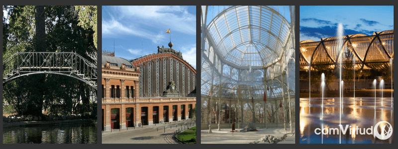 4 estructuras de hierro en Madrid que nos chiflan